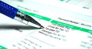 wynagrodzenia ślizgania podatek Obrazy Stock