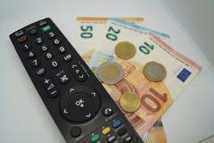 Wynagrodzenie TV zdjęcia royalty free