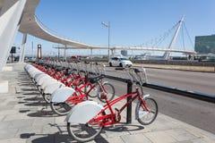 Wynajem jechać na rowerze w Zaragoza, Hiszpania Zdjęcia Royalty Free