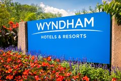Wyndham Hotels and Resorts headquarters entrance sign royalty free stock images