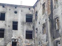 Wynikający ogień w Częstochowskim Fotografia Royalty Free
