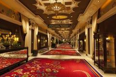 Wynn旅馆内部在拉斯维加斯, 2013年8月02日的NV 免版税库存图片
