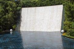 梦想湖与40英尺瀑布的在Wynn旅馆和赌博娱乐场 库存图片