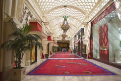 Wynn Esplanade en Wynn Hotel y el casino fotos de archivo libres de regalías