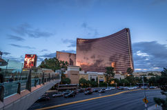 Wynn Hotel and Casino at sunset - Las Vegas, Nevada, USA Royalty Free Stock Images