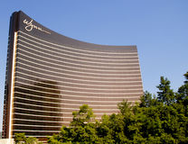 Wynn Hotel in Las Vegas. Image of the Wynn Hotel in Las Vegas with Trees in the Foreground Royalty Free Stock Image