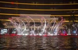 Wynn Hotel Macau-Brunnenshow Stockbilder