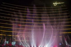 Wynn Hotel Macau-Brunnenshow Lizenzfreie Stockfotografie