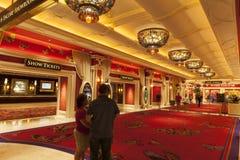 Wynn hotellinre i Las Vegas, NV på Augusti 02, 2013 Arkivbilder