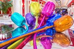 Wynn Las Vegas tulips Stock Images