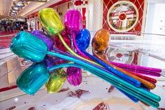 Wynn Las Vegas tulips Royalty Free Stock Image
