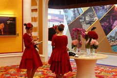 The wynn palace hotel of macao participate in the exhibition Stock Image