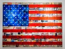 Wynwood amerikanska flaggan royaltyfria foton