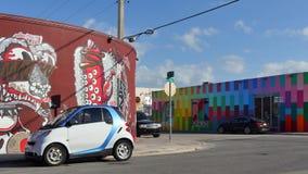Wynwood Art Walls Miami 4k stock video footage