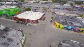 Wynwood video aéreo Miami 8 4k video estoque