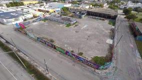 Wynwood video aéreo Miami 15 4k almacen de metraje de vídeo