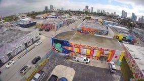 Wynwood visuel aérien Miami 2 4k banque de vidéos