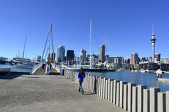 Wynyard che attraversa Auckland Nuova Zelanda Fotografia Stock Libera da Diritti