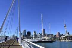 Wynyard croisant Auckland Nouvelle-Zélande Image stock