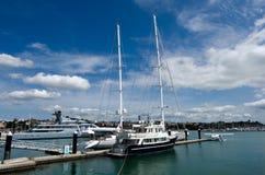Wynyard hamnplats Auckland Nya Zeeland Arkivbild