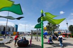 Wynyard-quarto Playspace de Auckland fotos de stock
