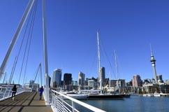 Wynyard que cruza Auckland Nueva Zelanda Imagen de archivo