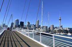 Wynyard que cruza Auckland Nueva Zelanda Fotos de archivo
