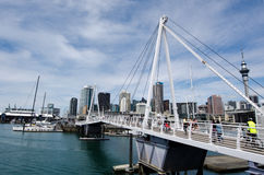 Wynyard som korsar Auckland Nya Zeeland Royaltyfri Fotografi