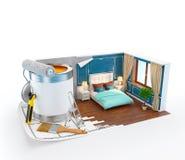 wyobraź sobie, wnętrze koncepcja projektu sofę Obrazy Royalty Free
