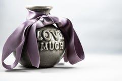 Wyobraża sobie waza dla kocham jeden fotografia stock