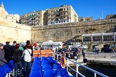 Wyokrętować prom, Valletta Obrazy Royalty Free