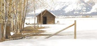 Wyoming Barn Stock Image