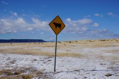 Wyoming cattle sign. Stock Photos