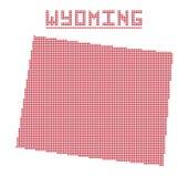 Wyoming Dot Map libre illustration