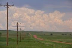 Wyoming droga gruntowa Zdjęcie Royalty Free