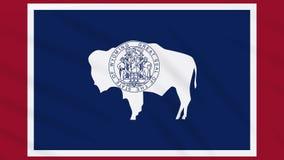 Wyoming-Flagge flattert im Wind, Schleife für Hintergrund vektor abbildung