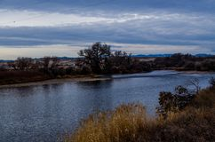 Wyoming flod 24 Arkivfoton