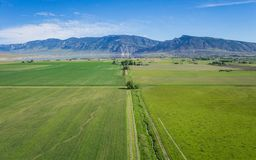 Wyoming Green Farm Land royalty free stock photography
