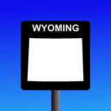 Wyoming highway sign Royalty Free Stock Images