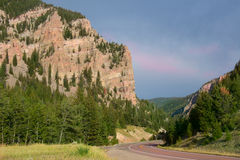 Wyoming Highway in Summer Stock Image