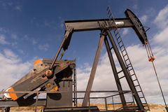 Wyoming Industrial Oil Pump Jack Fracking Crude Extraction Machi Stock Photography