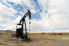 Wyoming Industrial Oil Pump Jack Fracking Crude Extraction Machi Royalty Free Stock Images