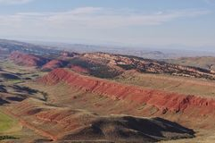 Wyoming Landscape. Red rocks terrain in Wyoming USA deserted stock photo