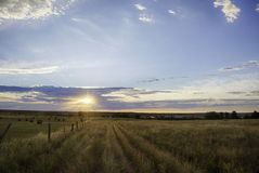Wyoming Landscape at Sunrise Stock Photos