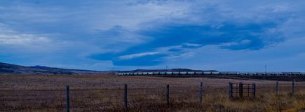 Wyoming landsdrev Arkivbild