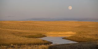 Wyoming moonrise Stock Photo