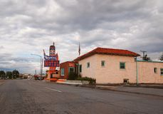 Wyoming-Motel auf Lincoln Highway In Cheyenne Wyoming lizenzfreie stockfotografie