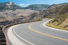 Wyoming Mountain Road Stock Image