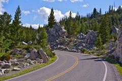 Wyoming Mountain Road Royalty Free Stock Photos