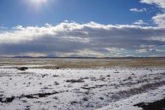 Wyoming prärie fotografering för bildbyråer